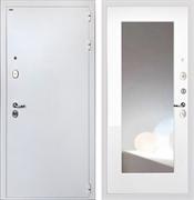 Входная стальная дверь Интекрон Колизей White с Зеркалом Max (Белая шагрень / Белая матовая)