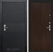 Входная металлическая дверь Лабиринт Black 5 (Чёрный кварц / Венге)