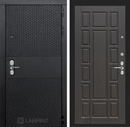 Входная металлическая дверь Лабиринт Black 12 (Чёрный кварц / Венге)