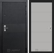 Входная металлическая дверь Лабиринт Black 13 (Чёрный кварц / Грей софт)