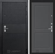 Входная металлическая дверь Лабиринт Black 11 (Чёрный кварц / Графит софт)