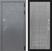 Входная металлическая дверь Лабиринт Cosmo 6 (Графит / Сандал серый)
