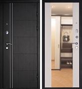 Входная металлическая дверь Дверной Континент Тепло-Люкс 3К Зеркало (Венге / Дуб беленый)
