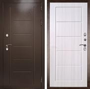 Входная уличная дверь с терморазрывом Термаль Экстра (Медный антик / Лиственница бежевая)