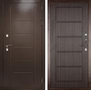 Входная уличная дверь с терморазрывом Термаль Экстра (Медный антик / Темный орех)