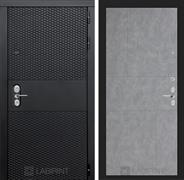 Входная металлическая дверь Лабиринт Black 21 (Чёрный кварц / Бетон светлый)