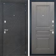 Входная металлическая дверь Интекрон Сенатор Лучи ФЛ-243-М (Венге распил кофе / Дуб вуд графит)