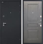 Входная металлическая дверь Интекрон Греция ФЛ-243-М (Чёрный шелк / Дуб вуд графит)