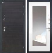 Входная металлическая дверь Интекрон Сицилия с Зеркалом (ЭкоВенге / Белая матовая)