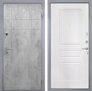 Входная металлическая дверь Интекрон Спарта Грей ФЛ-243-М (Бетон темный / Белый матовый)