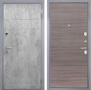 Входная металлическая дверь Интекрон Спарта Грей (Бетон темный / Дуб Тоскано)