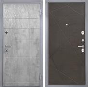 Входная металлическая дверь Интекрон Спарта Грей Лучи-М (Бетон темный / Венге распил кофе)