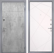 Входная металлическая дверь Интекрон Спарта Грей Лучи-М (Бетон темный / Софт Милк)