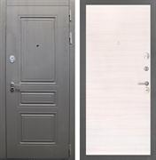 Входная стальная дверь Интекрон Брайтон (Дуб вуд графит / Дуб Сильвер)