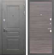 Входная стальная дверь Интекрон Брайтон (Дуб вуд графит / Дуб Тоскано)