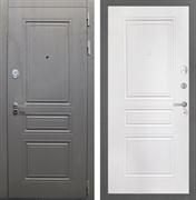 Входная стальная дверь Интекрон Брайтон ФЛ-243 (Дуб вуд графит / Белый матовый)