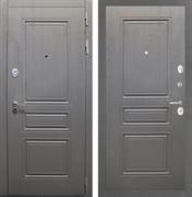 Входная стальная дверь Интекрон Брайтон ФЛ-243 (Дуб вуд графит / Дуб вуд графит)