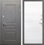 Входная стальная дверь Интекрон Брайтон ФЛ-316 (Дуб вуд графит / Ясень белый)