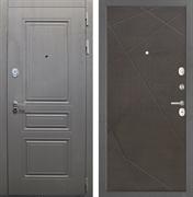 Входная стальная дверь Интекрон Брайтон Лучи-М (Дуб вуд графит / Венге распил кофе)
