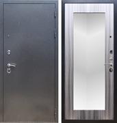 Входная стальная дверь Армада 11 с Зеркалом Пастораль (Антик серебро / Сандал серый)