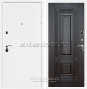Входная металлическая дверь Сенатор Практик 3К ФЛ-2 (Белая шагрень / Венге)