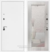 Входная металлическая дверь Сенатор Практик 3К Зеркало Оптима (Белая шагрень / Сандал белый)