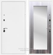 Входная металлическая дверь Сенатор Практик 3К Зеркало Оптима (Белая шагрень / Сандал серый)