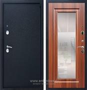 Входная металлическая дверь Армада 3 с Зеркалом ФЛЗ-120 (Черный крокодил / Берёза морёная)
