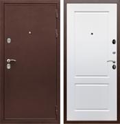 Входная металлическая дверь Сенатор Практик 3К ФЛ-117 (Медный антик / Белый матовый)