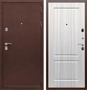 Входная металлическая дверь Сенатор Практик 3К ФЛ-117 (Медный антик / Сандал белый)