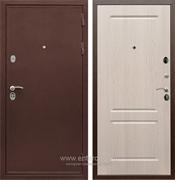 Входная металлическая дверь Сенатор Практик 3К ФЛ-117 (Медный антик / Дуб белёный)