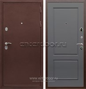Входная металлическая дверь Сенатор Практик 3К ФЛ-117 (Медный антик / Графит софт)