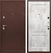 Входная металлическая дверь Сенатор Практик 3К ФЛ-117 (Медный антик / Бетон светлый)
