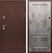 Входная металлическая дверь Сенатор Практик 3К ФЛ-117 (Медный антик / Бетон тёмный)