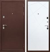 Входная металлическая дверь Сенатор Практик 3К ФЛ-291 (Медный антик / Белый матовый)