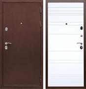 Входная металлическая дверь Сенатор Практик 3К ФЛ-294 (Медный антик / Белый матовый)