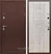 Входная металлическая дверь Сенатор Практик 3К Д-18 (Медный антик / Сосна белая)
