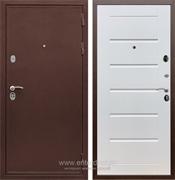 Входная металлическая дверь Сенатор Практик 3К Сити (Медный антик / Белый ясень)