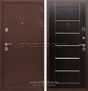 Входная металлическая дверь Сенатор Практик 3К Сити (Медный антик / Венге)