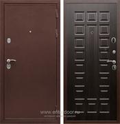 Входная металлическая дверь Сенатор Практик 3К ФЛ-183 (Медный антик / Венге)