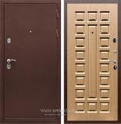 Входная металлическая дверь Сенатор Практик 3К ФЛ-183 (Медный антик / Дуб светлый)