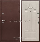 Входная металлическая дверь Сенатор Практик 3К ФЛ-58 (Медный антик / Дуб белёный)