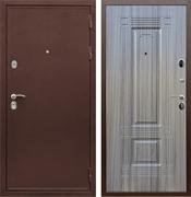 Входная металлическая дверь Сенатор Практик 3К ФЛ-2 (Медный антик / Сандал серый)
