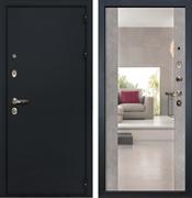 Входная металлическая дверь Лекс 2 Рим с Зеркалом Бетон серый (панель №102)