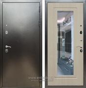 Входная металлическая дверь Сенатор Практик 3К Зеркало ФЛЗ-120 (Антик серебро / Белёный дуб)