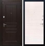 Входная стальная дверь Интекрон Брайтон (Тиковое дерево / Дуб Сильвер)
