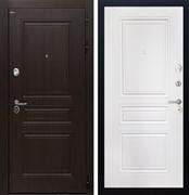 Входная стальная дверь Интекрон Брайтон ФЛ-243 (Тиковое дерево / Белый матовый)