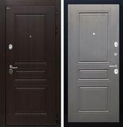 Входная стальная дверь Интекрон Брайтон ФЛ-243 (Тиковое дерево / Дуб вуд графит)