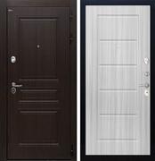 Входная стальная дверь Интекрон Брайтон ФЛ-39 (Тиковое дерево / Сандал белый)