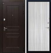 Входная стальная дверь Интекрон Брайтон L-5 (Тиковое дерево / Сандал белый)